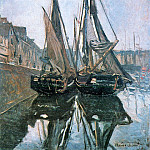 Fishing Boats at Honfleur, Клод Оскар Моне