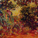 The Artist's House Seen from the Rose Garden, Claude Oscar Monet