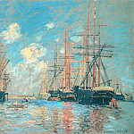 The Sea, Port in Amsterdam, Клод Оскар Моне