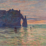 Etretat, Sunset, Claude Oscar Monet