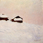 Claude Oscar Monet - Houses in the Snow