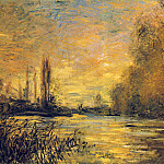 Клод Оскар Моне - The Small Arm of the Seine at Argenteuil