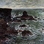 Rocky Coast and the Lion Rock, Belle-Ile, Claude Oscar Monet
