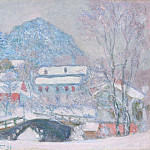 Norway, Sandviken Village in the Snow, Claude Oscar Monet