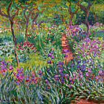 Claude Oscar Monet - The Iris Garden at Giverny, 1899-1900