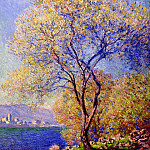 Antibes Seen from the Salis Gardens 01, Claude Oscar Monet