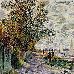 The Riverbank at Petit Gennevilliers, Claude Oscar Monet