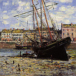 Boat at Low Tide at Fecamp, Claude Oscar Monet
