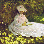Woman Reading, Claude Oscar Monet