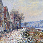 The Siene at Lavacourt, Effect of Snow, Claude Oscar Monet