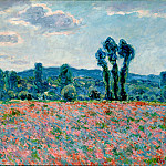 Poppy Field in Giverny 03, Claude Oscar Monet