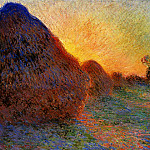 Claude Oscar Monet - Grainstacks