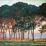 Under the Pine Trees at the End of the Day, Claude Oscar Monet