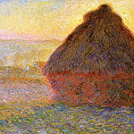 Grainstack at Sunset, Claude Oscar Monet