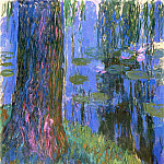 Claude Oscar Monet - Weeping Willow and Water-Lily Pond 2