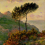 The Church at Varengeville, against the Sunset, Claude Oscar Monet