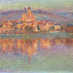 Vetheuil at Sunset, Claude Oscar Monet