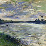 The Seine near Vetheuil, Stormy Weather, Клод Оскар Моне