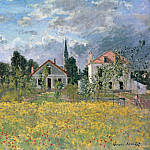 Houses in Argenteuil, Claude Oscar Monet