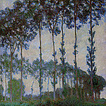 Poplars on the Banks of the River Epte, Overcast Weather, Claude Oscar Monet