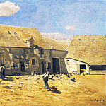 Cour de ferme a Chailly, Клод Оскар Моне