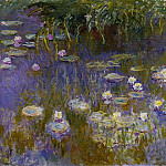 Claude Oscar Monet - Water Lilies, Yellow and Lilac