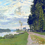 The Promenade at Argenteuil 02, Claude Oscar Monet