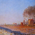 The Plain of Colombes, White Frost, Claude Oscar Monet