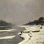 Claude Oscar Monet - Ice Floes on the Seine at Bougival