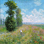 Meadow with Poplars, Claude Oscar Monet