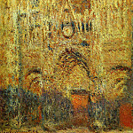 Rouen Cathedral at Sunset, Claude Oscar Monet