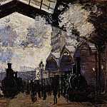 Saint-Lazare Station, Exterior View, Claude Oscar Monet