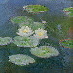 Claude Oscar Monet - Water Lilies, Evening Effect
