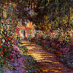Клод Оскар Моне - Pathway in Monet's Garden at Giverny
