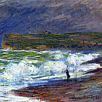 The Beach at Fecamp, Claude Oscar Monet