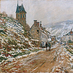 Клод Оскар Моне - The Road in Vetheuil in Winter