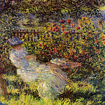 Alice Hoschede in the Garden, Claude Oscar Monet