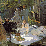 Luncheon on the Grass , Claude Oscar Monet