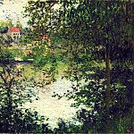 Claude Oscar Monet - The Isle Grande-Jatte through the Poplars