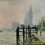 The Thames at Westminster, Claude Oscar Monet