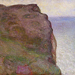 Claude Oscar Monet - Cliff at Petit Ailly in Grey Weather