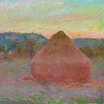Grainstacks at the End of the Day, Autumn, Claude Oscar Monet