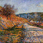 The Road to Vetheuil, Claude Oscar Monet