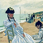 Claude Oscar Monet - The Beach at Trouville