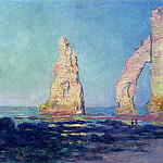 The Needle of Etretat, Low Tide, Claude Oscar Monet