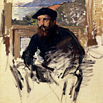 Claude Oscar Monet - Self Portrait In His Atelier