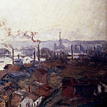 General View Of Rouen From St. Catherines Bank, Claude Oscar Monet