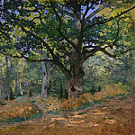 The Bodmer Oak, Fontainebleau, Claude Oscar Monet