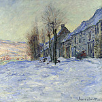Claude Oscar Monet - Lavacourt, Sun and Snow