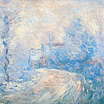 Claude Oscar Monet - The Entrance to Giverny under the Snow